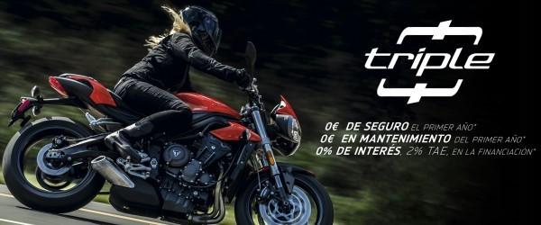 promoción 'Triple 0' de Triumph paquete