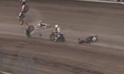 accidente en el American Flat Track