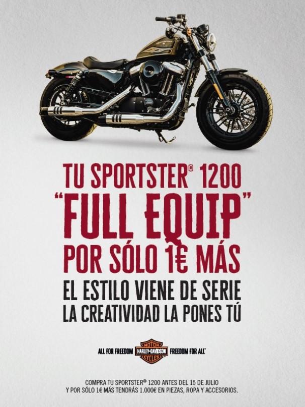 Sportster 1200 personalizada por 1 euro más
