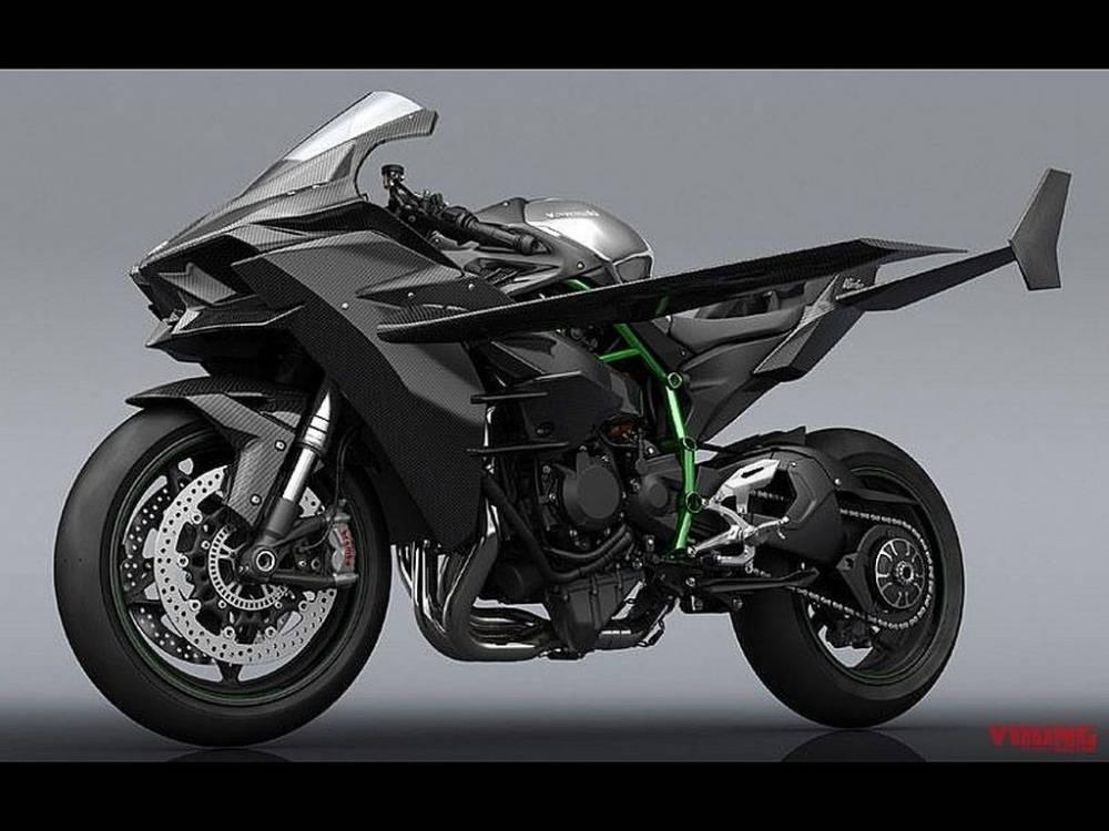 Kawasaki H2R con alas
