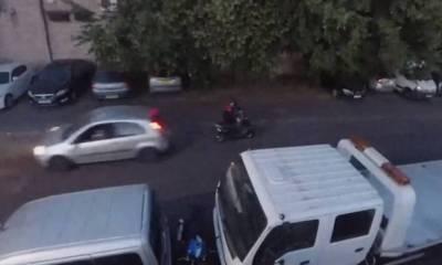 atropella al ladrón de la moto