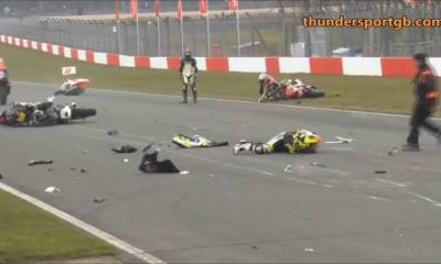 brutal accidente en la ThundersportGB de Donington