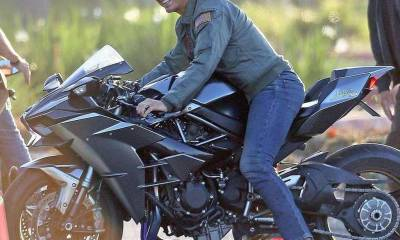 Tom Cruise sobre la Ninja H2 de Top Gun 2