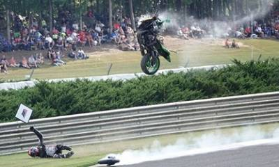 brutal accidente en el MotoAmerica Alabama