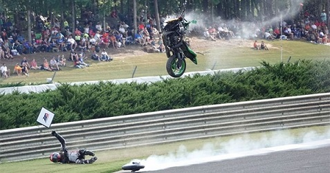 accidente Supersport Motoamerica Alabama 2018