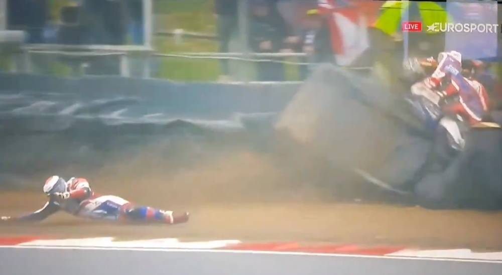accidente de Jake Dixon en el BSB