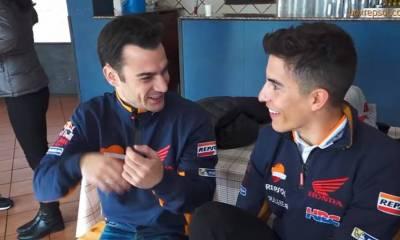 Making Of de los vídeos de Márquez y Pedrosa