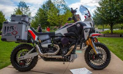 Harley Africa Twin de San Diego Customs