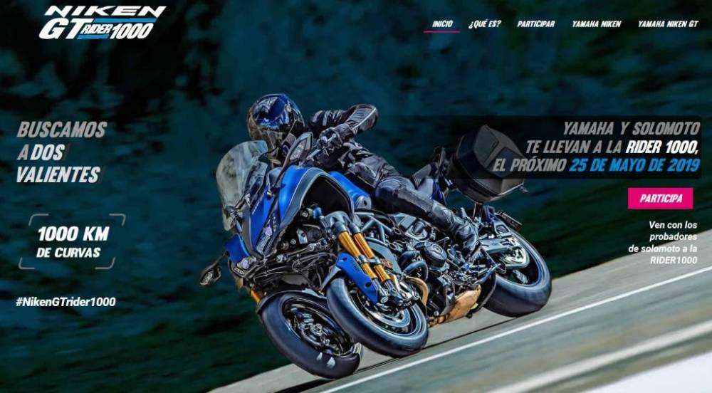 ir gratis a la Rider 1000 con la Yamaha Niken