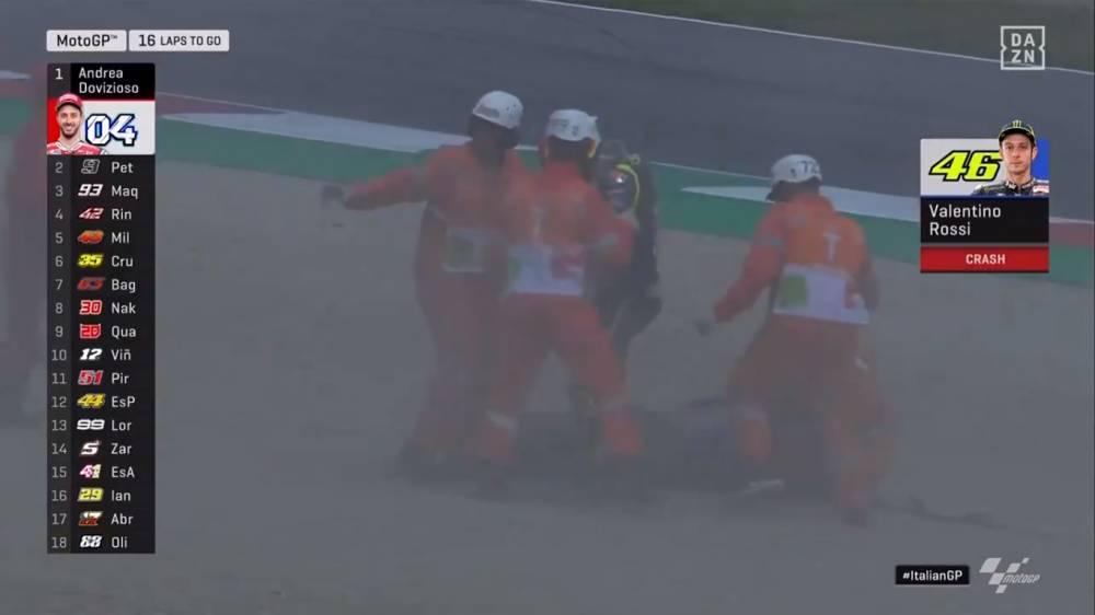caída Valentino Rossi Mugello