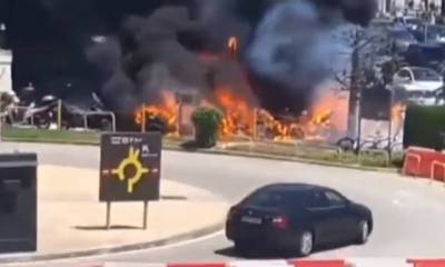 Incendio aeropuerto de Barcelona