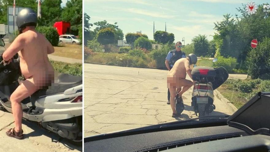 motorista que circulaba desnudo