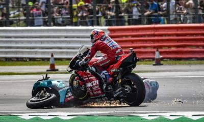 Quartararo y Tardozzi analizan el Silverstone crash
