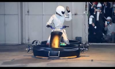 vídeo moto voladora japonesa