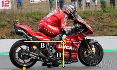 baja la altura de la Ducati