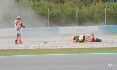 caída Márquez test Sepang 2020