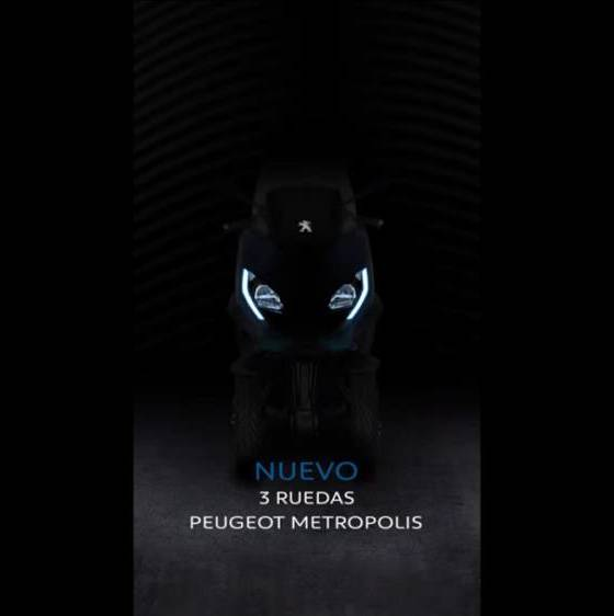 vídeo teaser Peugeot Metropolis 2021