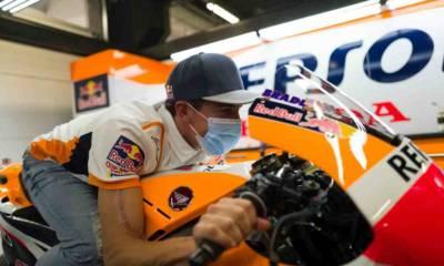 Márquez vuelve al paddock de MotoGP