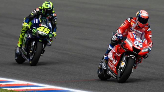 Rossi, Dovizioso Yamaha Petronas