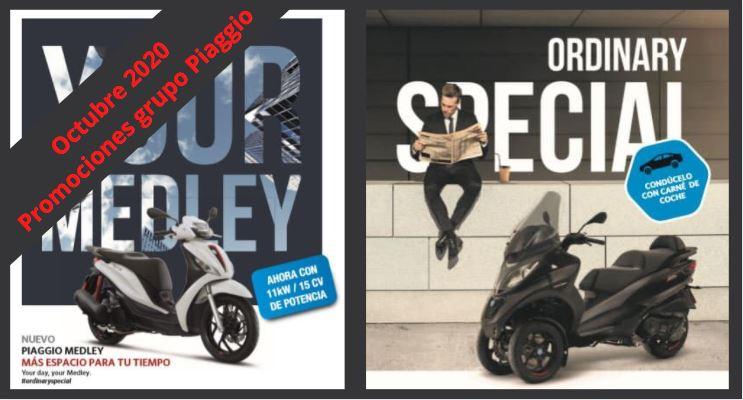 Promociones grupo Piaggio octubre 2020