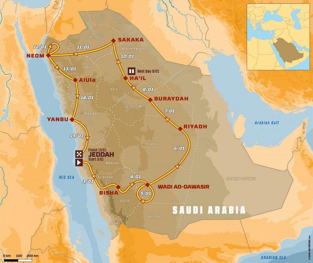 Recorrido Dakar 2021