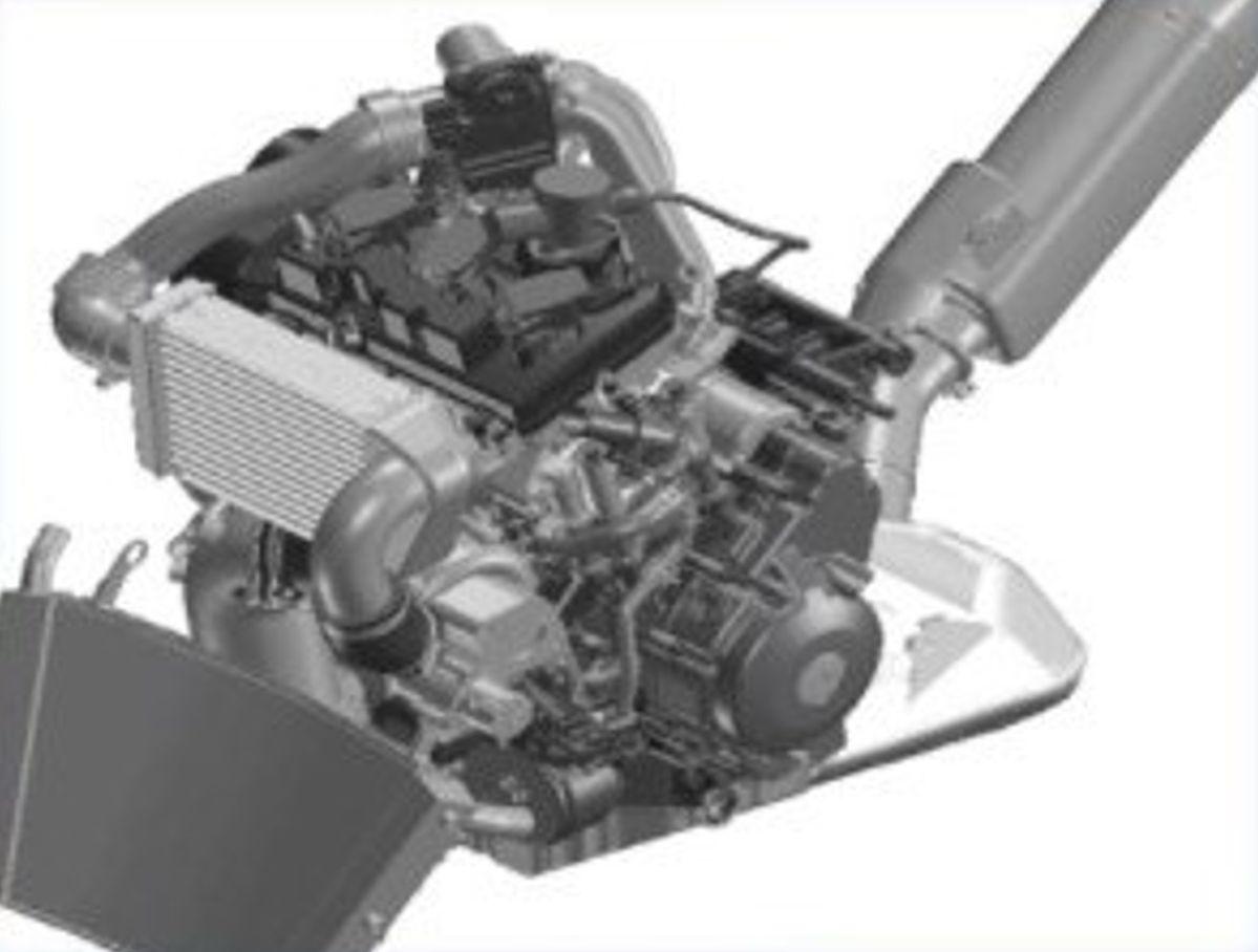 Motor Yamaha tricilíndrico turbo