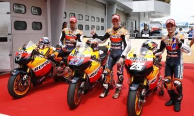 tres motos repsol honda