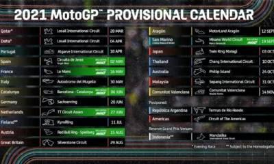 calendario MotoGP 2021 actualizado