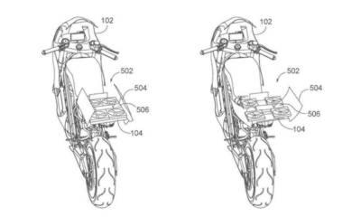 Honda patente moto con dron