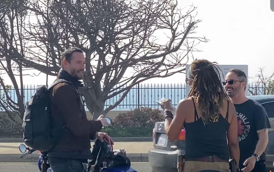 Keanu Reeves motero video